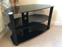 TV Table - Black Glass