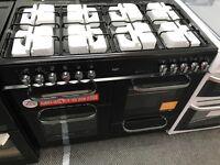 New Graded Bush 100cm Duel Fuel Range Cooker - Black