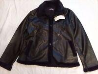 Ladies Faux Leather Jacket Black