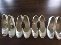 Selection of wedding shoes size 4
