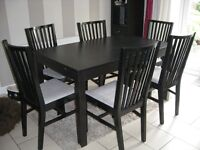 Ikea Extending Dining Table & 6 Chairs, good used condition, £120