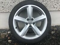 18INCH 5/112 GENUINE AUDI S-LINE ALLOY WHEELS WITH TYRES FIT VW SEAT SKODA ETC