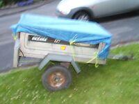 Daxara 127 Galvanised tipping trailer, 4'x3'