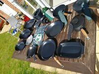 Aga cook wear, including cafetiere, apron, handle protectors