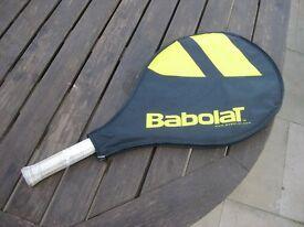 Childs tennis racquet -Nadal jr 25. In good condition but hand grip a little worn.