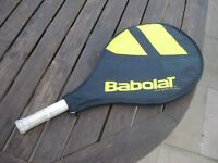 Childs tennis racquet -Nadal jr 25. In good condition but hand grip a little worn.