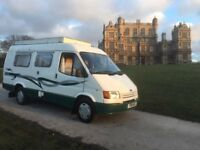FORD TRANSIT 2L PETROL, 1988 F-REG, 3/4 BERTH CAMPER CONVERSION with FULL AWNING and 12 MONTHS MOT!!