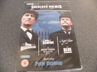 BBC DVD, THE SHERLOCK HOLMES COLLECTION WITH PETER CUSHING BRAND NEW SEALED