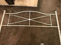 Good condition king size metal bed frame, mattress included if needed