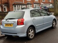 TOYOTA COROLLA 2,0 D4D T3 BLUE 5 DOOR 2 LADY OWNERS 13 SERVICE STAMPS CAMBELT CHANGED ALL RECIEPTS