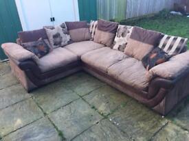DFS mocha brown corner Sofa