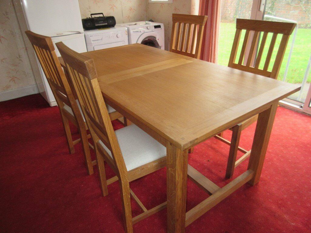 Laura Ashley Milton Oak Dining Table And Chairs In Immaculate Condition Ing Due House Move