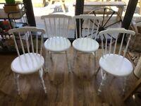 4 antique victorian IBEX kitchen chairs 1890
