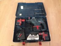 Nicad batteries x3 charger box and 24volt sds Bosch hanmmer drill