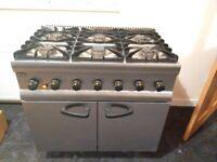 Range cooker - Lincat SLR9/N 6 ring gas hob and oven