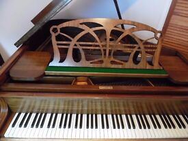art deco baby grand piano by max adolph