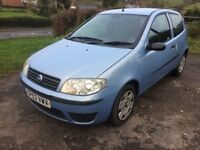 2004 fiat punto 3 door hatch 12 months mot