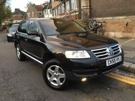 VW VOLKSWAGEN TOUAREG 3.0 V6 TDI AUTOMATIC 2005 (55) DIESEL CREAM HEATED SEAT SERVICE HISTORY