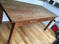 Large oak dining table 6ft x 3ft