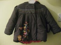 Mothercare girl's jacket, 12-18 months/86cm