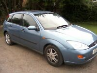 FORD FOCUS 1-8 LX 16v ZETEC 5-DOOR 2000 X REG. 102k MILES, OVER 12 MONTHS MOT.