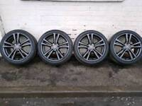 """Genuine Refurbished Audi A3 S Line alloy wheels 18"""" with v. good tyres"""