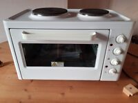 Cookworks mini oven, hob and grill.