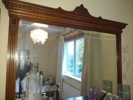 Lovely wooden vintage mirror