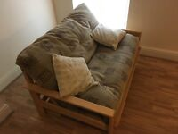 Solid Futon Sofa/ Double Bed ***Good Condition***
