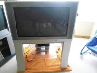 tv with box and stand