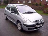 2005 05 CITROEN XSARA PICASSO LX 8v 1600cc PETROL MPV ESTATE CD PLAYER PX SWAPS