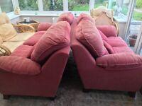 Pink sofa's