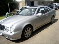 MERCEDES BENZ 230 CLK AVANTGARDE KOMPRESSOR COUPE 2001 (51 PLATE).