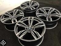 "BRAND NEW 18 / 19"" BMW M6 STYLE ALLOY WHEELS - 5 X 120 - DIAMOND CUT FINISH - Wheel Smart"