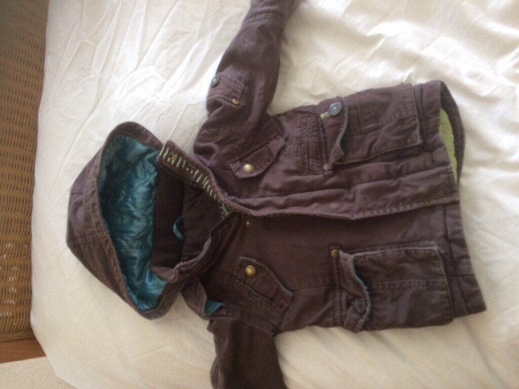 Baby Ted Baler Brown padded winter coat