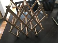 collapsible wooden wine rack