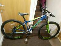 Carrera Hellcat mountain bike with fluid brakes