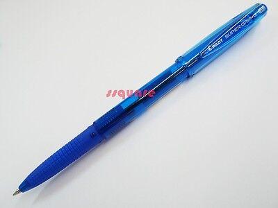 6 X Pilot Super Grip G Bps-gg 0.7mm Fine Ballpoint Pen W Cap Blue