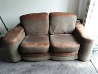 2 seater sofa withh free footstool
