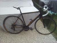 "Carrera zelos 54cm road bike suit height 5'5""- 6'2"". 14 speed Light weight 11kg Very good condition."
