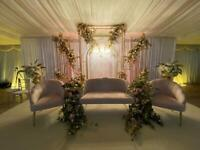 HIRE ONLY £250 ** Wedding Throne Sofa AND 2 Chairs Blush Pink HIRE Now