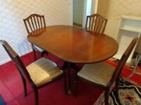 Dining Table and Four Dining Chairs