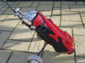 full set of golf clubs including Bag and trolly