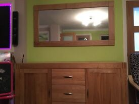 Solid Oak Mirror 150cmx80cm **Bargain** RRP 249 oakfurnitureland