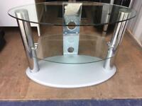 Oval glass TV Table