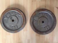 50kg York weight plates