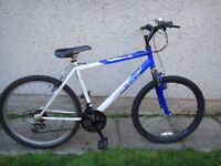 Apollo xc 26 bike, 26 inch wheels, 20 inch frame, 18 gears, front suspension