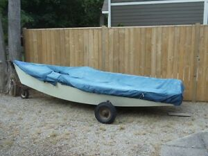 14' Spin drift sail boat with dolly