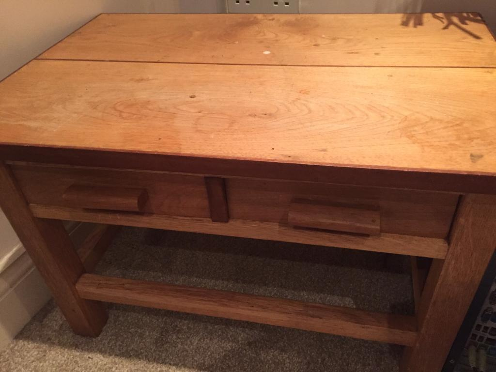Small hand made wooden coffee table