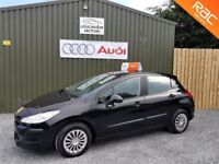 2008 PEUGEOT 308 1.6 HDI 90 URBAN, BLACK, 12 MONTHS MOT, SERVICED, TWO OWNERS, LOW MILEAGE